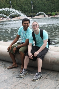 Raj with participant Kevin at last year's Labor Day program in DC