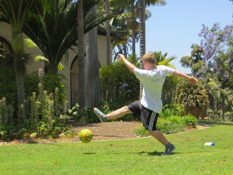 Kickball in Balboa Park