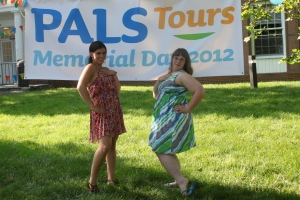 Program director Jamie with Brittany, looking super chic, before the dinner/dance Memorial Day Weekend 2012